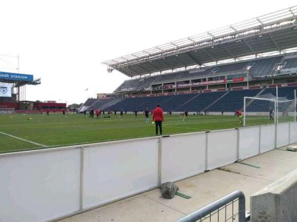SeatGeek Stadium, Abschnitt: 120, Reihe: 1, Platz: 1