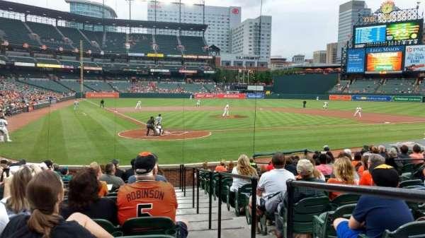 Oriole Park at Camden Yards, Abschnitt: 34, Reihe: 16, Platz: 1