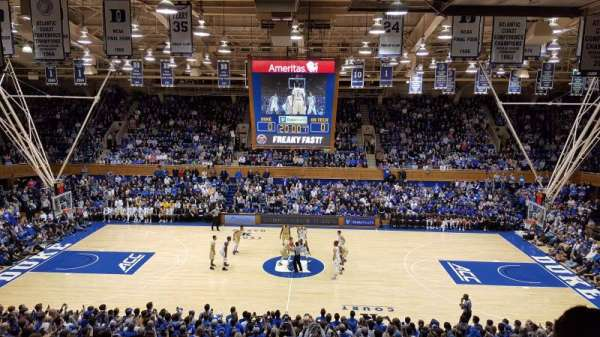 Cameron Indoor Stadium, Abschnitt: 15, Reihe: M, Platz: 18