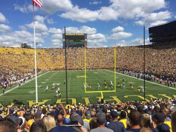 Michigan Stadium, Abschnitt: 12, Reihe: 34, Platz: 1