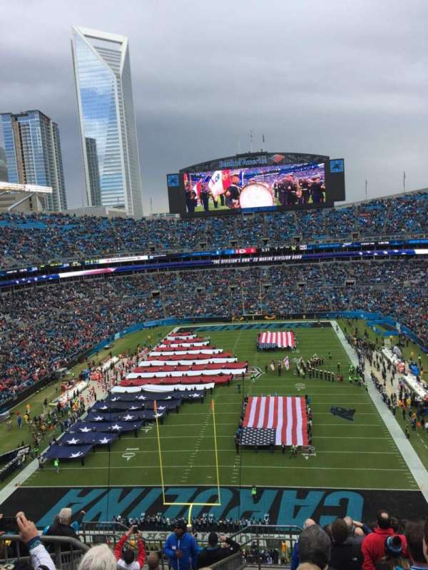 Bank of America Stadium, Abschnitt: 554, Reihe: 8, Platz: 21