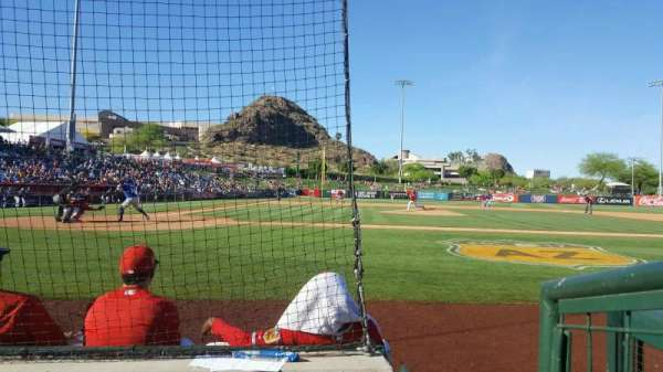Tempe Diablo Stadium, Abschnitt: 15, Reihe: C, Platz: 9
