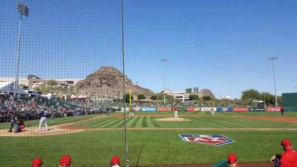Tempe Diablo Stadium, Abschnitt: 15, Reihe: E, Platz: 9