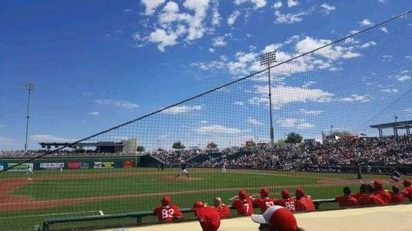 Goodyear Ballpark, Abschnitt: 107, Reihe: G, Platz: 6