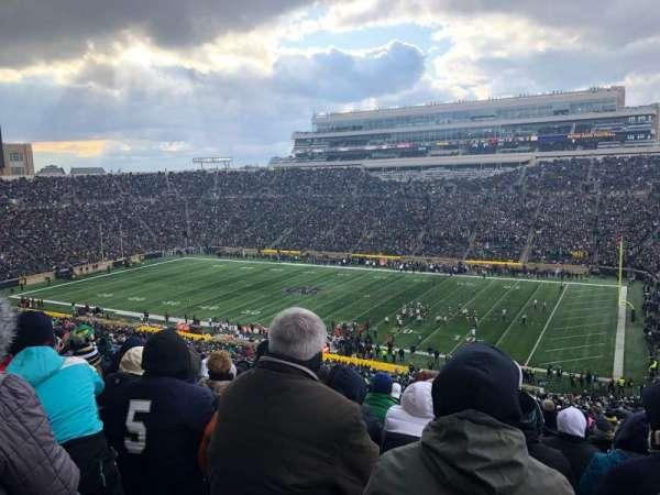 Notre Dame Stadium, Abschnitt: 107, Reihe: 25, Platz: 16