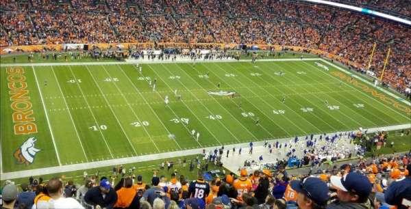 Broncos Stadium at Mile High, Abschnitt: 539, Reihe: 23, Platz: 1