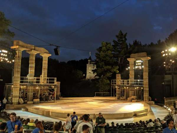 The Delacorte Theater in Central Park, Abschnitt: L, Reihe: L, Platz: 708