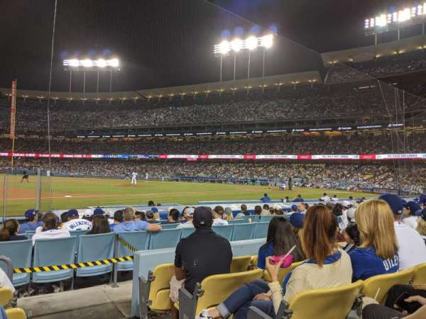 Dodger Stadium, Abschnitt: 27FD, Reihe: E, Platz: 1