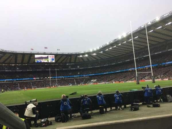 Twickenham Stadium, Abschnitt: L36, Reihe: 3, Platz: 246