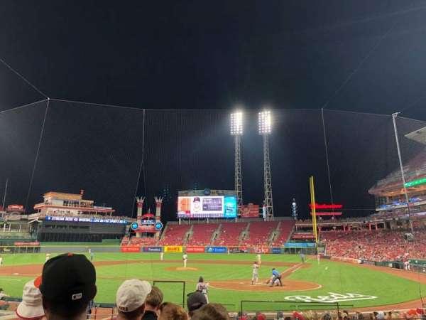 Great American Ball Park, Abschnitt: 120, Reihe: R, Platz: 1