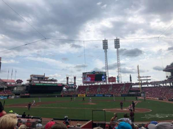Great American Ball Park, Abschnitt: 120, Reihe: R, Platz: 5