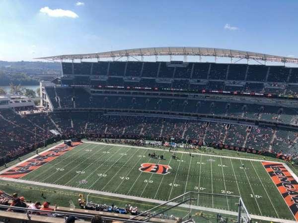 Paul Brown Stadium, Abschnitt: 338, Reihe: 19, Platz: 1