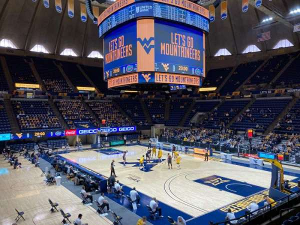 WVU Coliseum, Bereich: 104, Reihe: H, Platz: 2