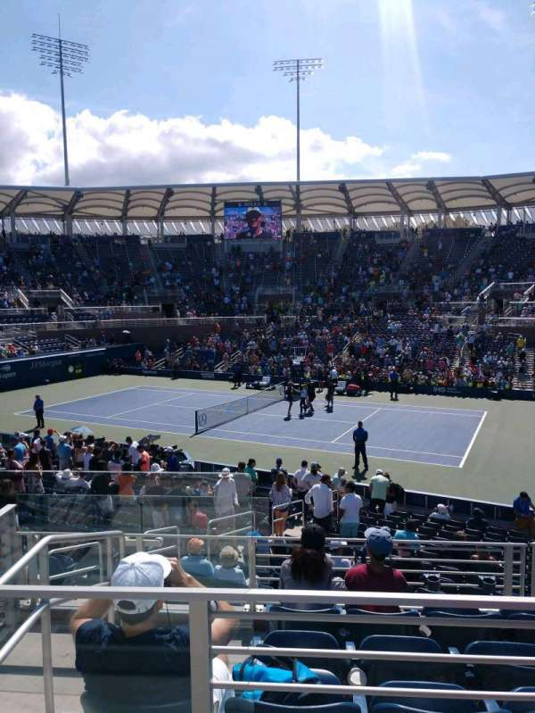 Billie Jean King National Tennis Center, Grandstand, Abschnitt: CC, Reihe: B, Platz: 1