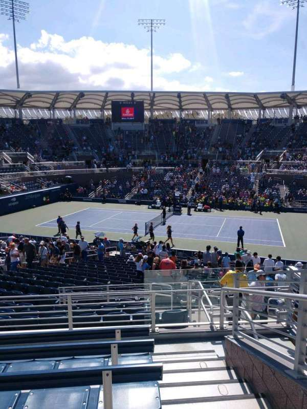 Billie Jean King National Tennis Center, Grandstand, Abschnitt: BB, Reihe: E, Platz: 1