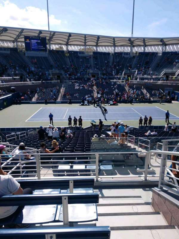 Billie Jean King National Tennis Center, Grandstand, Abschnitt: Z, Reihe: E, Platz: 1
