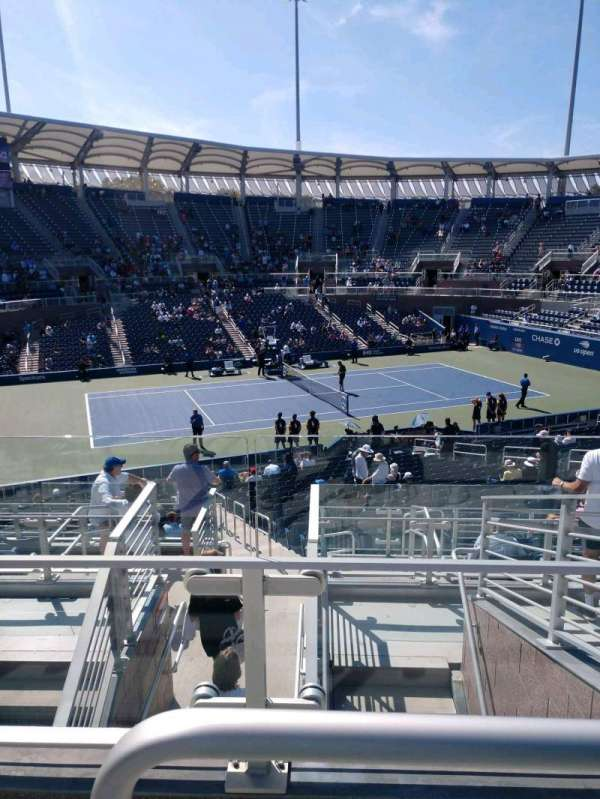 Billie Jean King National Tennis Center, Grandstand, Abschnitt: Y, Reihe: G, Platz: 1