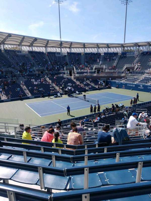 Billie Jean King National Tennis Center, Grandstand, Abschnitt: X, Reihe: G, Platz: 1