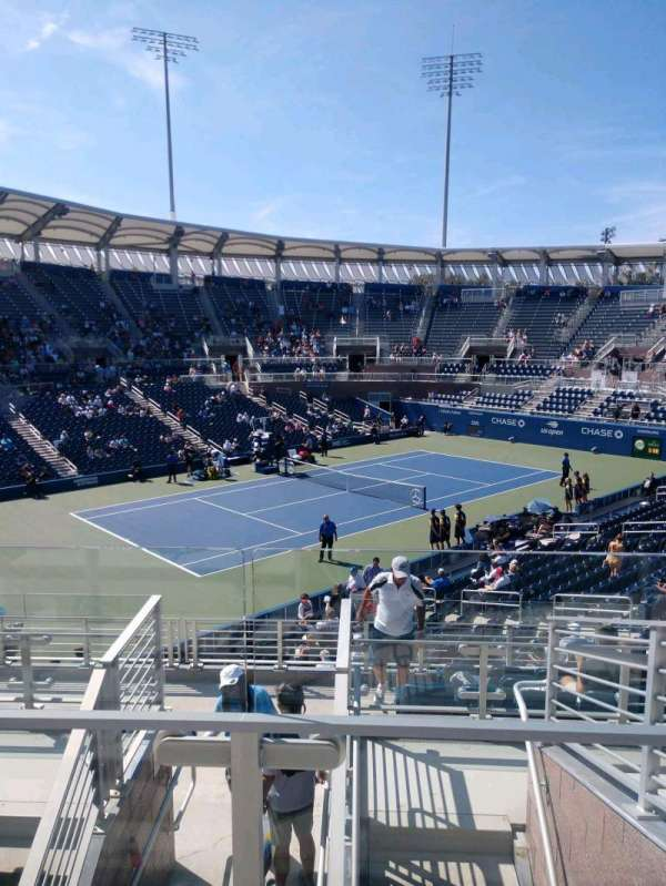 Billie Jean King National Tennis Center, Grandstand, Abschnitt: W, Reihe: G, Platz: 1