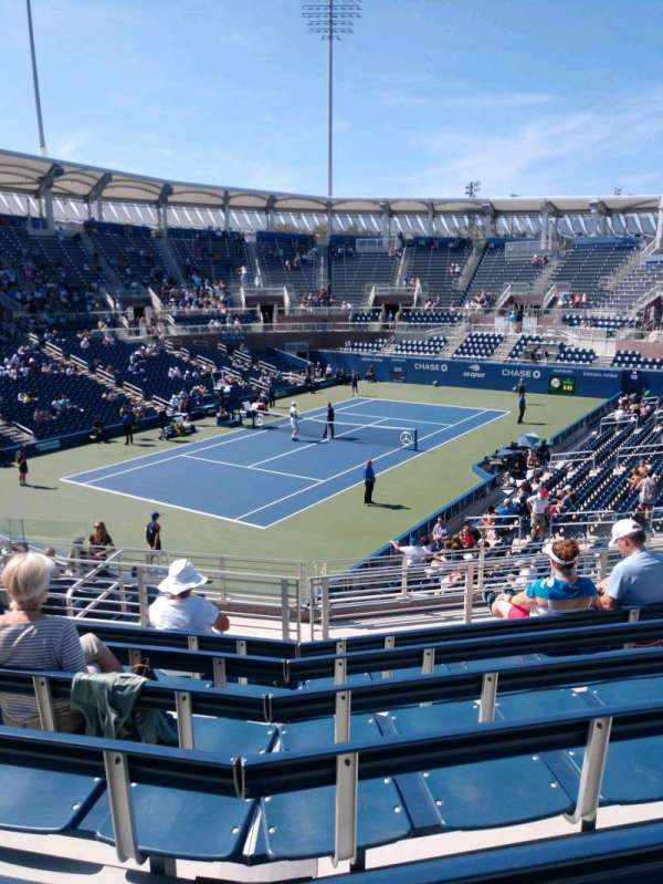 Billie Jean King National Tennis Center, Grandstand, Abschnitt: V, Reihe: G, Platz: 1
