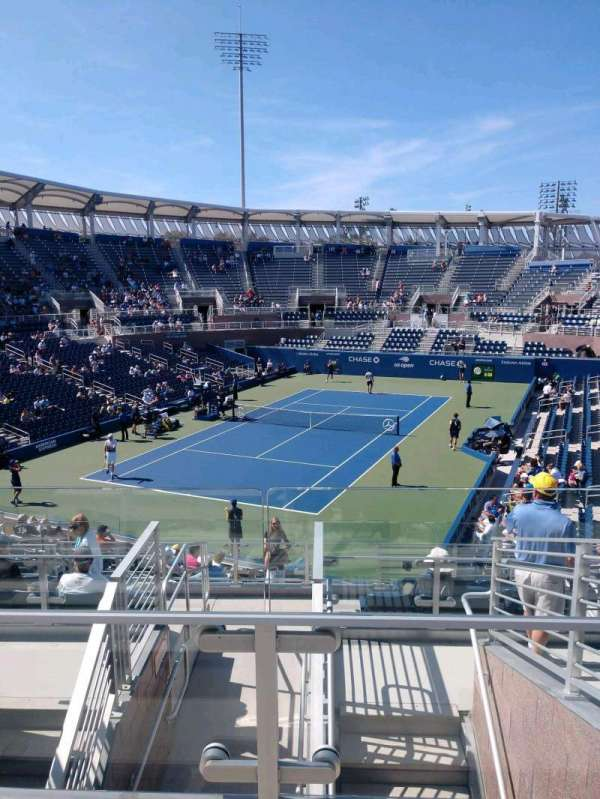 Billie Jean King National Tennis Center, Grandstand, Abschnitt: U, Reihe: G, Platz: 1