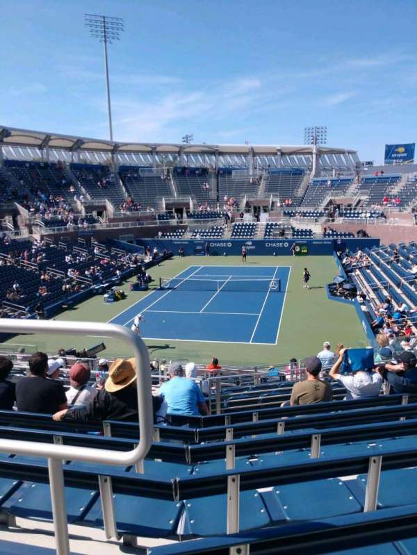 Billie Jean King National Tennis Center, Grandstand, Abschnitt: T, Reihe: G, Platz: 1