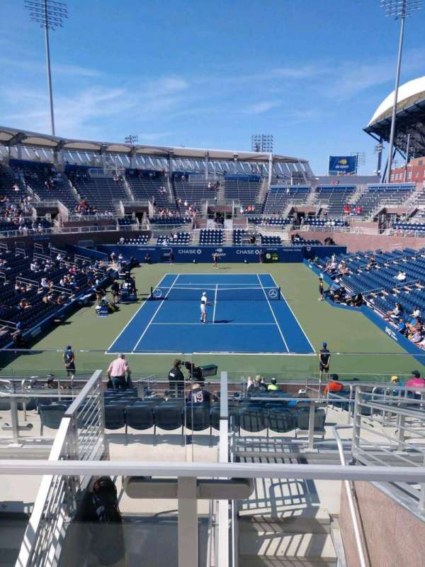 Billie Jean King National Tennis Center, Grandstand, Abschnitt: S, Reihe: G, Platz: 1