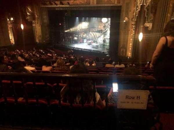 Hollywood Pantages Theatre, Abschnitt: Mezzanine R, Reihe: H, Platz: 20