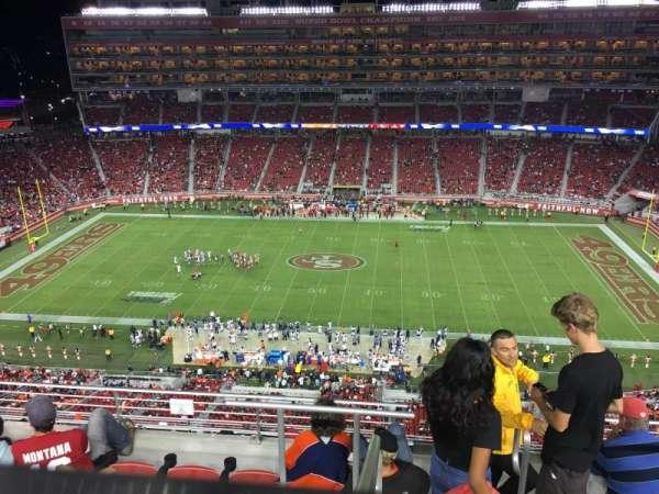 Levi's Stadium, Abschnitt: 411, Reihe: 6A, Platz: 4