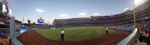Dodger Stadium, Abschnitt: 53FD, Reihe: AA, Platz: 1