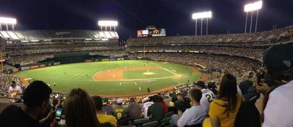 Oakland Alameda Coliseum, Abschnitt: 222, Reihe: 6, Platz: 18