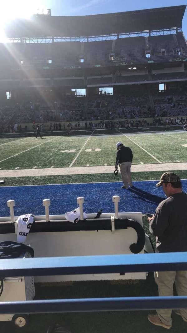 Georgia State Stadium, Abschnitt: 132, Reihe: 1, Platz: 1