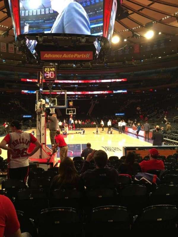 Madison Square Garden, Abschnitt: Baseline 2, Reihe: 9, Platz: 15