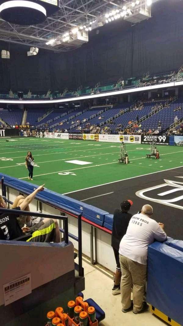 Greensboro Coliseum, Abschnitt: 114, Reihe: DD, Platz: 1