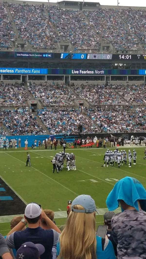 Bank of America Stadium, Abschnitt: 116, Reihe: 18, Platz: 14