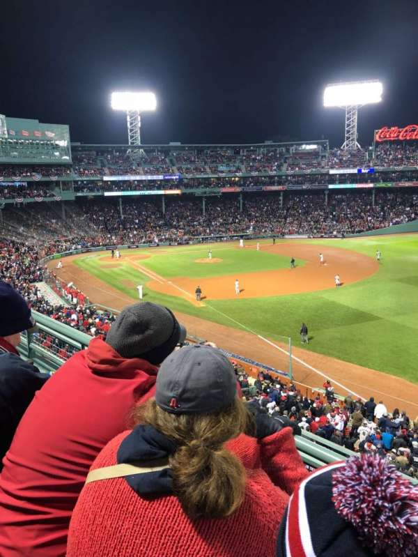 Fenway Park, Abschnitt: Right Field Roof Deck Box 25, Reihe: B, Platz: 1