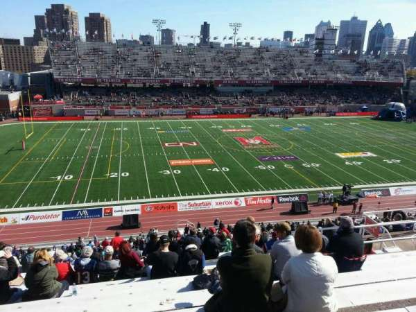 Percival Molson Memorial Stadium, Bereich: i2, Reihe: 10, Platz: 18