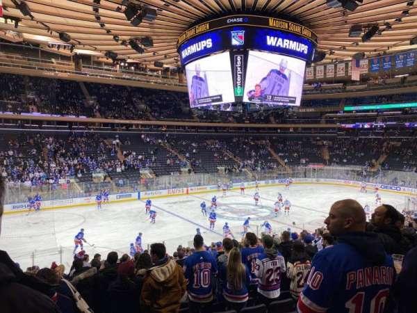 Madison Square Garden, Abschnitt: 105, Reihe: 19, Platz: 10