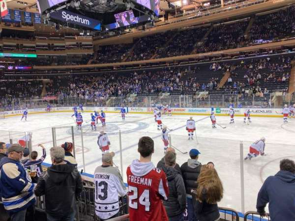 Madison Square Garden, Abschnitt: 109, Reihe: 6, Platz: 1
