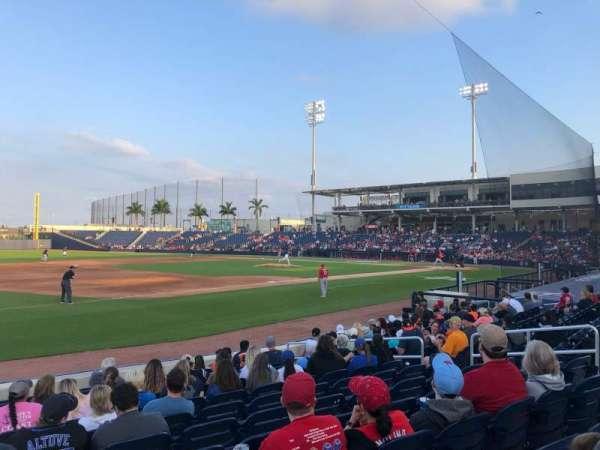 FITTEAM Ballpark of the Palm Beaches, Abschnitt: 101, Reihe: M, Platz: 1