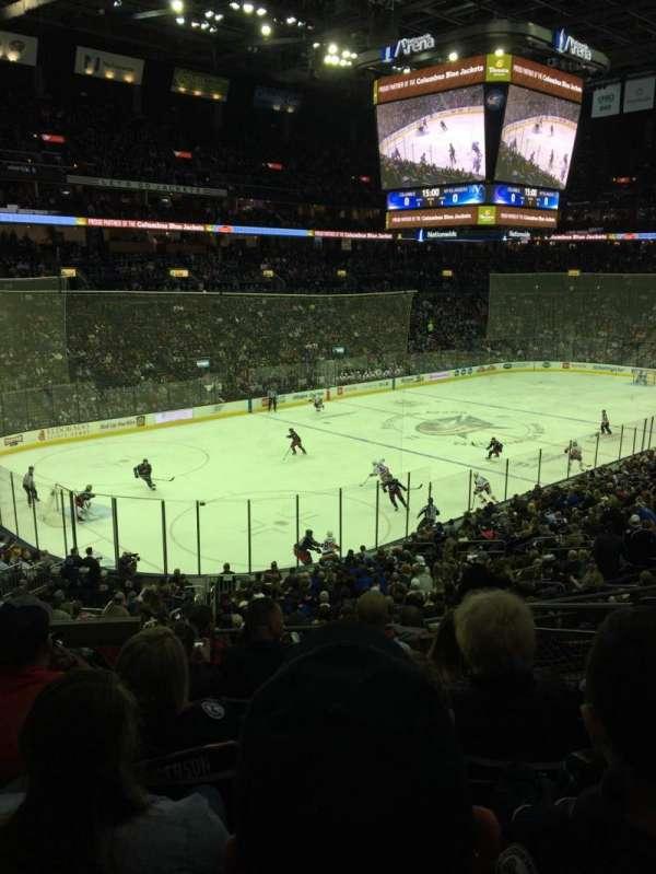 Nationwide Arena, Abschnitt: 117, Reihe: GG, Platz: 4