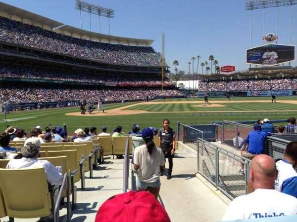 Dodger Stadium, Abschnitt: 12FD, Reihe: B, Platz: 9