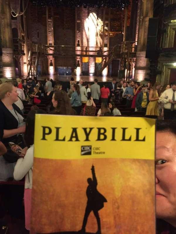 CIBC Theatre, Abschnitt: Orchestra C, Reihe: V, Platz: 111