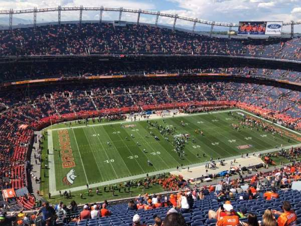 Broncos Stadium at Mile High, Abschnitt: 538, Reihe: 23, Platz: 24