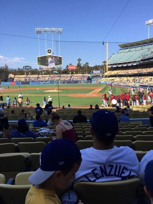 Dodger Stadium, Abschnitt: 7FD, Reihe: L, Platz: 7