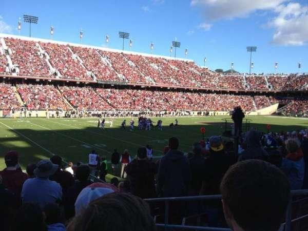 Stanford Stadium, Abschnitt: 117, Reihe: K, Platz: 4