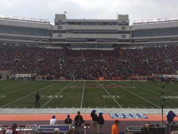 Lane Stadium, Abschnitt: 11, Reihe: K, Platz: 2