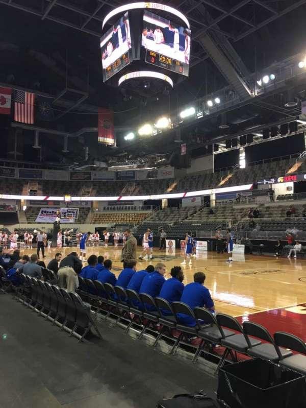Indiana Farmers Coliseum, Abschnitt: 117, Reihe: A, Platz: 1
