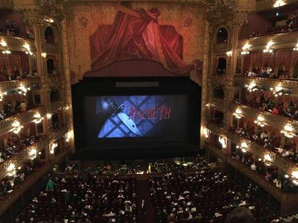 Teatro Colón, Abschnitt: Cazuela Centro, Reihe: 3, Platz: 71