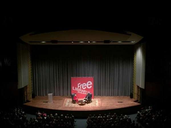 Irvine Auditorium, Abschnitt: Balcony, Reihe: Center